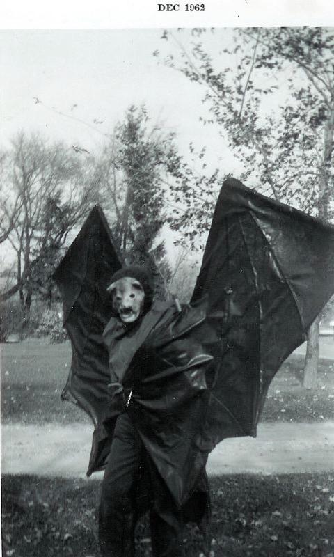 Grant in  Bat Costume