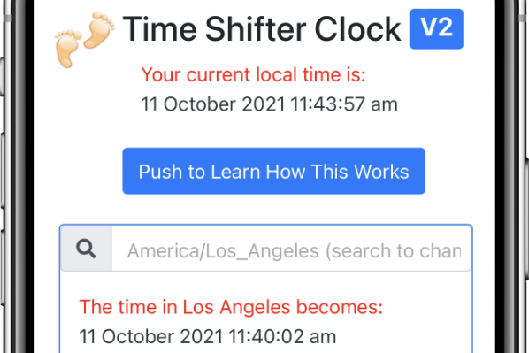 Top area of Time Shifter Clock